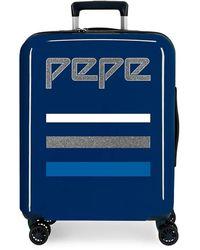 Pepe Jeans , Maleta de Cabina, 55 cm, 38.4 Litros, Azul