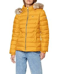 Tommy Hilfiger Tjw Essential Hooded Down Jacket Giacca Donna - Giallo