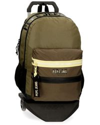 Pepe Jeans Caden Two Compartment Backpack W/trolley - Green