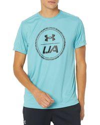 Under Armour Speed Stride Graphic Short-Sleeve T-Shirt - Bleu