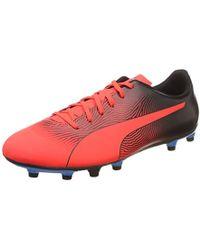 Spirit Ii Fg Herren Low Boot Fußballschuhe Rot schwarz azurblau