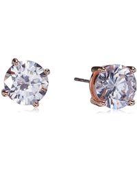 Guess 8 mm Hoop with Round CZ Stud Duo Earrings Set - Métallisé