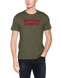 Levi's Housemark Graphic Tee T- T-Shirt Homme - Vert