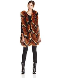 Tracy Reese - Contrast Foxy Fur Vest - Lyst