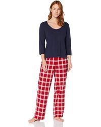Iris & Lilly Pyjama-Set aus Flanell - Mehrfarbig
