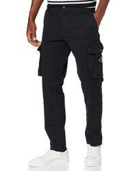 Calvin Klein Skinny Washed Cargo Pant - Black