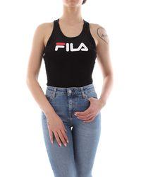 Fila Lupita Racer Back Stretch Velour Bodysuit 684432 002 - Nero