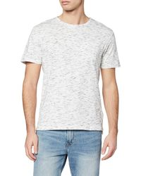 FIND T-Shirt Poche Poitrine - Blanc