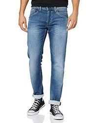 Pepe Jeans Track Vaqueros Straight para Hombre - Azul