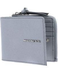 Mandarina Duck - Essential CC Holder with Coin Pouch Silver - Lyst