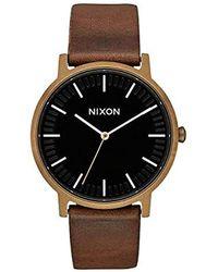 Nixon Erwachsene Analog Quarz Uhr mit Leder Armband A10583053-00 - Mehrfarbig