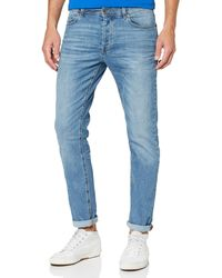 Benetton Pantalone Straight Jeans - Blue