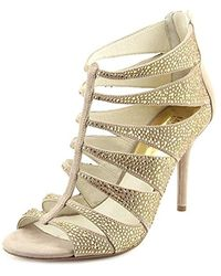 Michael Kors Michael Mavis T Strap Sandals - Natural