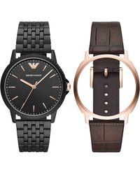 Emporio Armani Horloge AR80021 - Noir