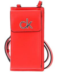 Calvin Klein Phone Pouch XBody Vibrant Coral - Rot