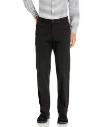 Izod Performance Stretch Classic Fit Flat Front Chino Pant - Black