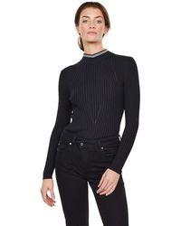 G-Star RAW Lynn Mock Turtle suéter - Negro
