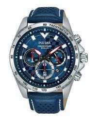 Seiko Pulsar Homme Uhr Analogique QUARTZ mit Cuir Armband PT3A61X1 - Multicolore