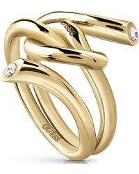Guess Stainless Steel Ring M - Metallic