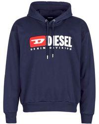 DIESEL S-Division Sweat-Shi Felpa - Blu