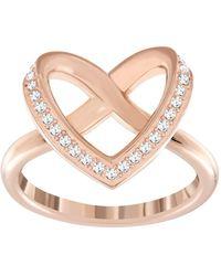 Swarovski Ring CUPIDON rhodiniert weiß Gr. 60 - Mehrfarbig