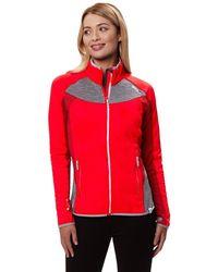 Regatta S/Ladies Yare Knitted Strech Fabric Elastane Jacket - Rot