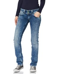 Pepe Jeans Venus Jean Droit - Bleu