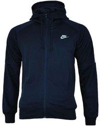 Nike , Tribute -Hoodie Gr. Large, navy - Blau