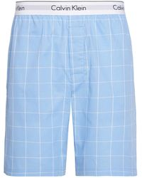 Calvin Klein Sleep Short Pantaloni Pigiama - Blu