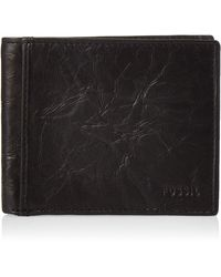 Fossil - Ingram Leather Rfid-blocking Bifold With Flip Id Wallet - Lyst