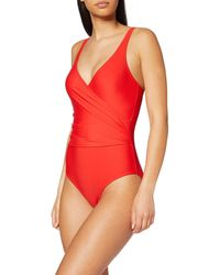 Dorothy Perkins Red Sculpt Wrap Swimsuit Badeanzug - Rot