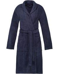 Esprit Peignoir de bain unisexe en 100 % coton Bleu marine Taille XL
