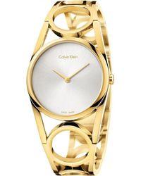 Calvin Klein Analog Quarz Uhr mit Edelstahl Armband K5U2S546 - Mettallic