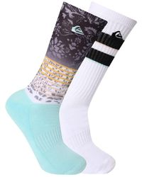 Quiksilver Half Cushion Crew Socks - Blue