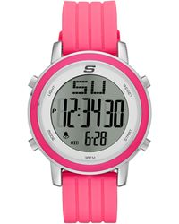 Skechers Sr6013 Digital Display Quartz Pink Watch - Multicolor