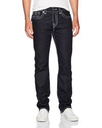 True Religion Ricky Super T Straight Leg Jeans - Blue