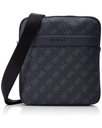 13f1c38c91 City Logo Mini Flat Crossbody Messenger Bag - Black