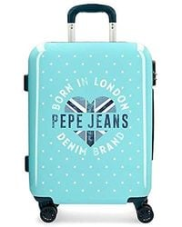 Pepe Jeans Emory Hand Luggage 55 Centimeters 37 Blue (azul)