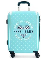 Pepe Jeans Emory Hardside Carry-on Suitcase - Blue