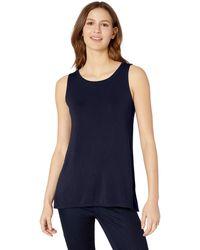 Amazon Essentials Patterned Swing Tank Shirt - Blue
