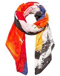 Desigual Foulard Lander Scarf, White (crudo 1001), One (size: U) - Multicolour