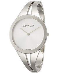 Calvin Klein Orologio Analogico Quarzo da Donna con Cinturino in Acciaio Inox K7W2S116 - Metallizzato