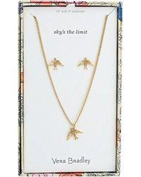 Vera Bradley - S Sparkling Bird Earring Jewelry Set, Gold Tone - Lyst