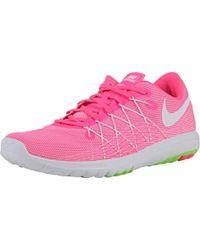 size 40 33d4a b899e Nike Flex Fury Black/white/ht Lv/brght Crmsn Running Shoe 6 ...