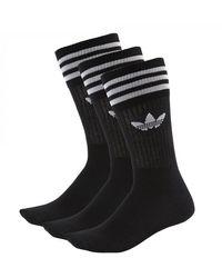 adidas Originals Calzini S21490 Solid Crew Sock - Nero