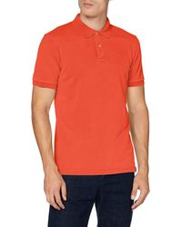 Scotch & Soda Garment Dyed Stretch Polo - Arancione