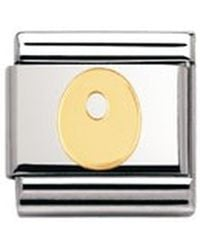 Nomination Composable Classic Letter O Stainless Steel And 18k Gold - Metallic