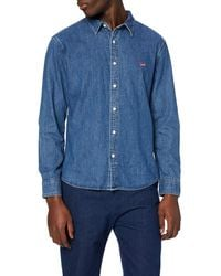 Levi's Ls Battery HM Shirt Slim Chemise Casual - Bleu