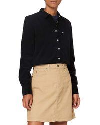 Lee Jeans A Line Zip Skirt Gonna - Blu