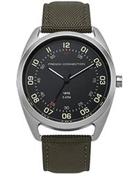 French Connection Quartz Watch With Stainless-steel Strap, Silver, 20 (model: Fc1309bsm - Black